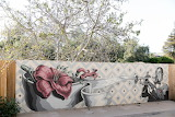 Sideways Inn Mural in Buellton, CA