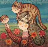 woman with a cat, Armen Vahramyan