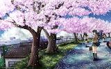 girl Sakura nature