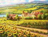 Summer in Tuscany - Painting