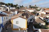 Obidos, inside crenelated wall , Portugal