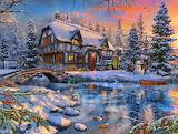 Snowman at The Winter Cottage~ DominicDavison new