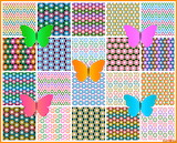 Collage 454 butterflies