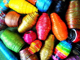 Paper Beads in a Rainbow of Colors