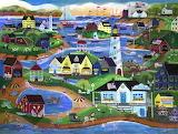 Seaside town - Cheryl Bartley