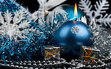 Blue Christmas ornaments