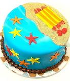 Beach bum's cake