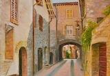 Village Houses Assisi by Dai Wynn credit BlueThumb