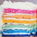 Rainbow slice @ Gluten Monster