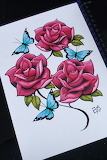I draw roses colour d by artisticrender-d5eracm