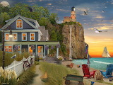 House with cliff