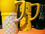 Yellow Ceramic Cups