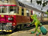 trains, frog