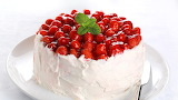 ^ Strawberry topped cake