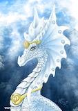 White Dragon Portrait