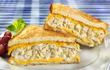 ^ Three Cheese Tuna Melt