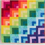 Bright rainbow color quilt