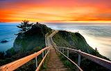 Walk to View Sunset California USA