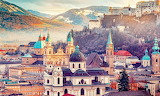 Austria, Salzburg skyline