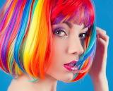 multicored hair girl