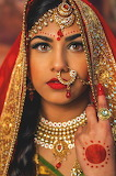 Uttarakhandi woman with saree and Nath nose ring