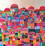 colourful town, Sophie Jourdan