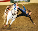 Rodeo-show-woman-female-style-girl-horse-sand