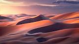 Soir tombant sur le désert
