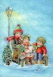 Children in the winter