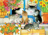 Amy Rosenberg 'Welcome Mat Kittens'