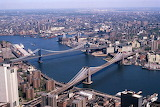 Manhattan and Brooklyn bridges, New York City