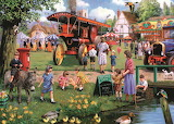 The Village Green in Spring - Kevin Walsh