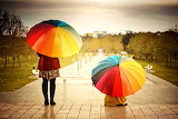 ^ Under a rainy sky