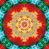Colorful kaleidoscope abstract kg17