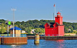 Holland Harbor Lighthouse Michigan USA
