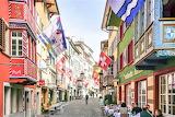 Sidewalk dining old town zurich switzerland