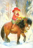 little girl on a pony