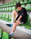 Boy in adidas soccer