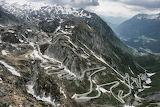 Serpentine Road Gotthard Pass, Switzerland
