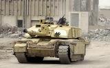 Challenger 2 tank in Basra