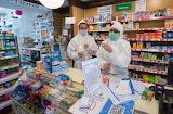 Berkshire, Windsor, pharmacy during lockdown
