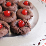 Chocolate-Covered-Cherry Cookies