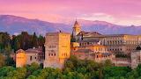Granada-Spain-Alhambra palace at sunset