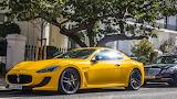 Yellow luxury car