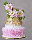 Frills and sparkles wedding cake