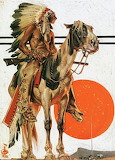 American Indian on horse by leyendecker