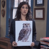 Scary Rosa with a scary owl