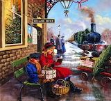 Train Station at Christmas