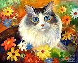 cat-in-flowers