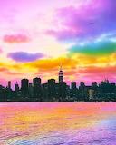 Rainbow City Sunset